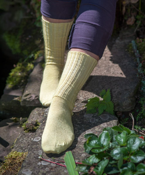 Mohair socks from the goat company